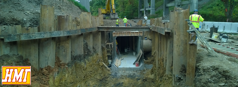 Hammond Mitchell Inc Covington Va VDOT Box Culvert project under I-64, Sioux Avenue
